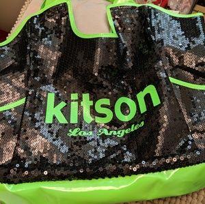 kitson - Large neon green tote bag